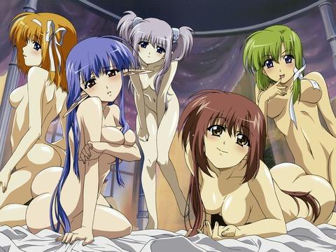 【2次元】裸の女の子がたくさんいるよww ハーレムな2次元エロ画像・23枚目の画像