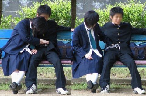 公共の場でエロい事してる若者をまんまと盗撮した結果wwwwww★素人エロ画像・8枚目の画像