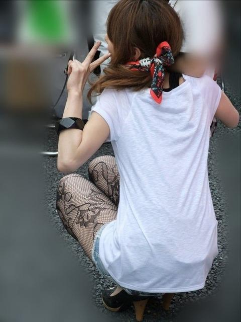 こんなエロい網タイツ履いてると素人と言えども勃起しそうなんだがwwwwwwww★素人網タイツ・黒ストエロ画像・3枚目の画像