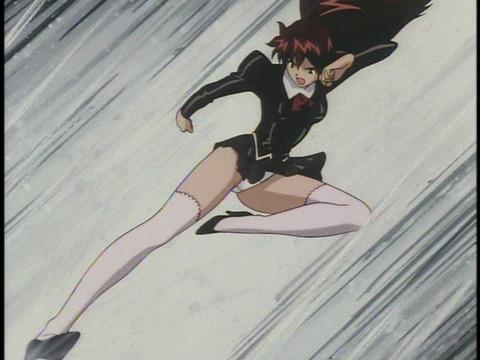 【2次元】蹴りエロ画像ww パンツが見えるのを惜しまず敵を倒しに行く様 2次元【蹴りでパンチラ】エロ画像・33枚目の画像