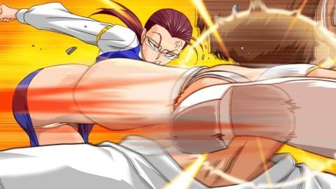【2次元】蹴りエロ画像ww パンツが見えるのを惜しまず敵を倒しに行く様 2次元【蹴りでパンチラ】エロ画像・13枚目の画像