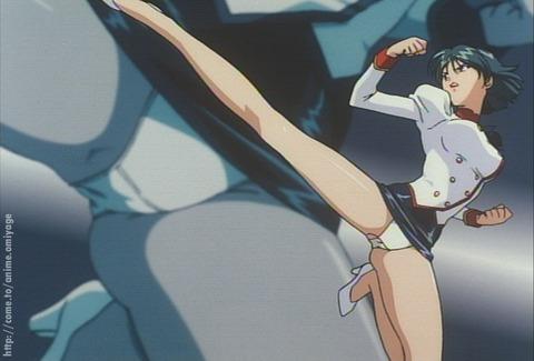 【2次元】蹴りエロ画像ww パンツが見えるのを惜しまず敵を倒しに行く様 2次元【蹴りでパンチラ】エロ画像・19枚目の画像