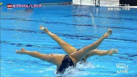 俺氏、水泳シンクロ女子をオナ禁して見たら下半身限定のストリップショーにしか見えなかったンゴwwwwww(画像あり)・17枚目の画像
