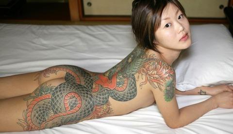 風俗で出てきたら地雷確定タトゥー有り嬢のエロ画像32枚・7枚目の画像